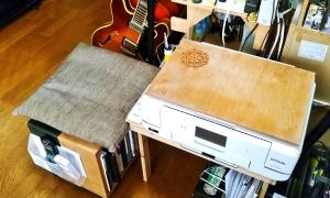 プリンターの簡易テーブル